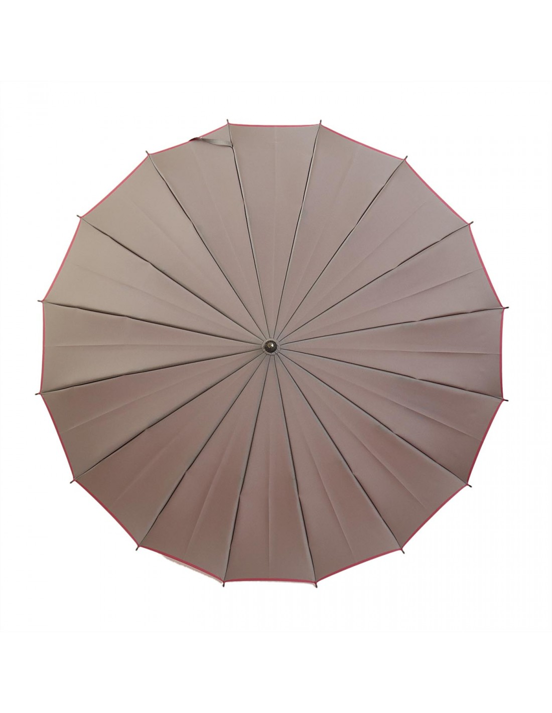 Damen Regenschirm Grau/Rosa