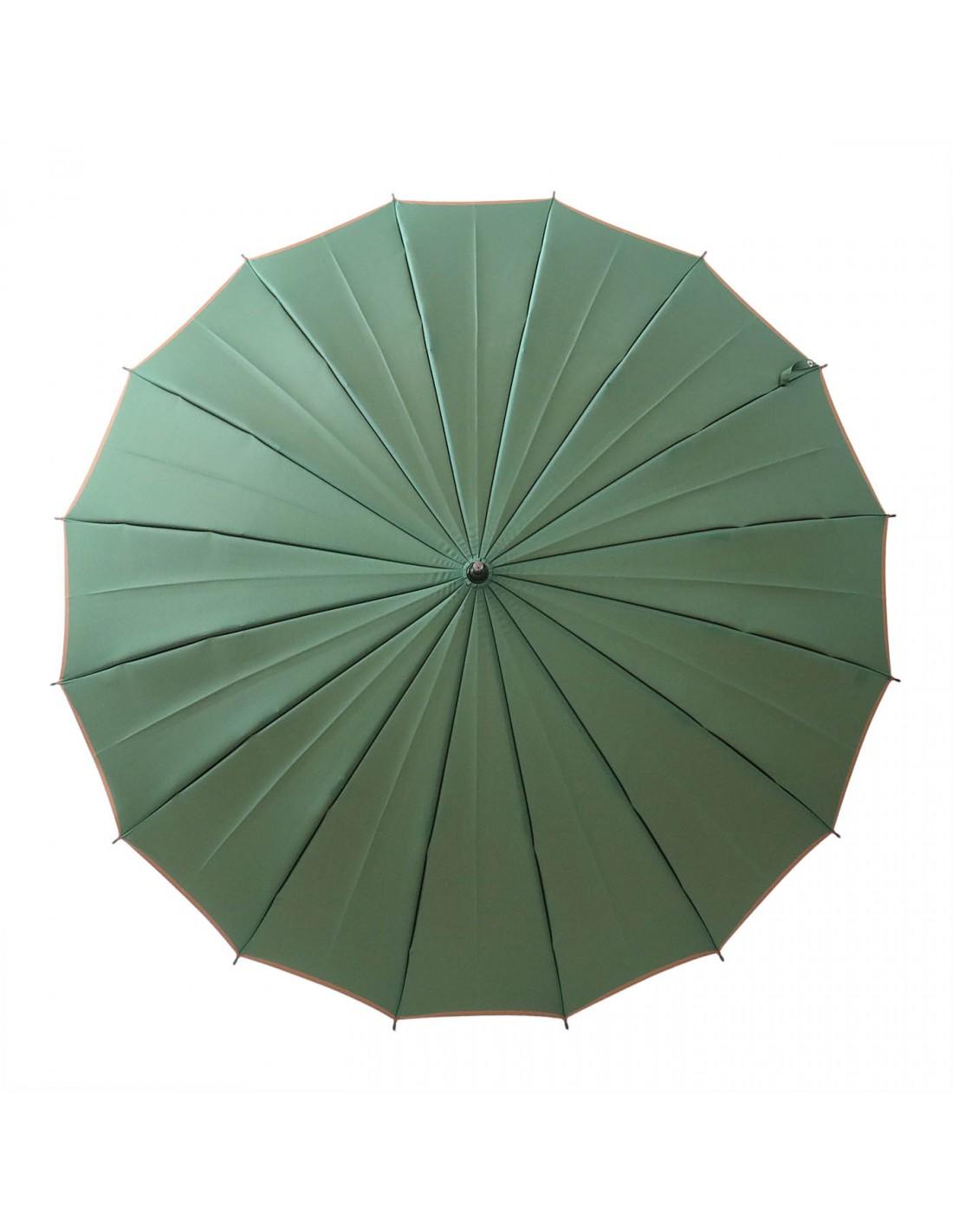Damen Regenschirm Grün/Braun