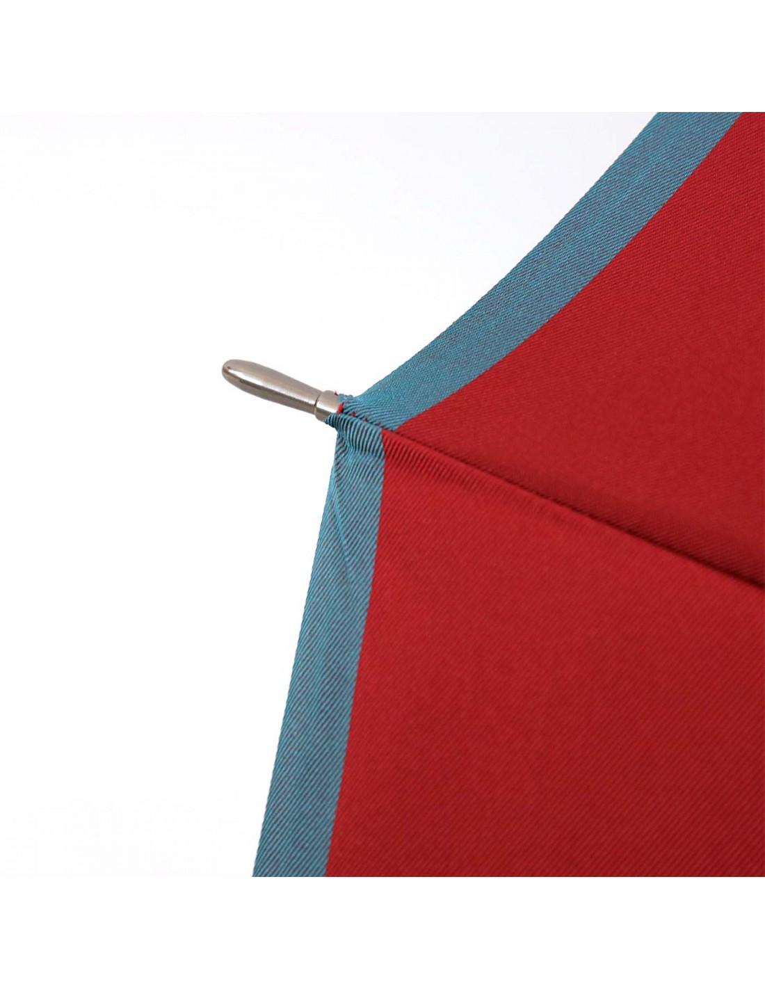Damen Regenschirm Himbeere/Aqua