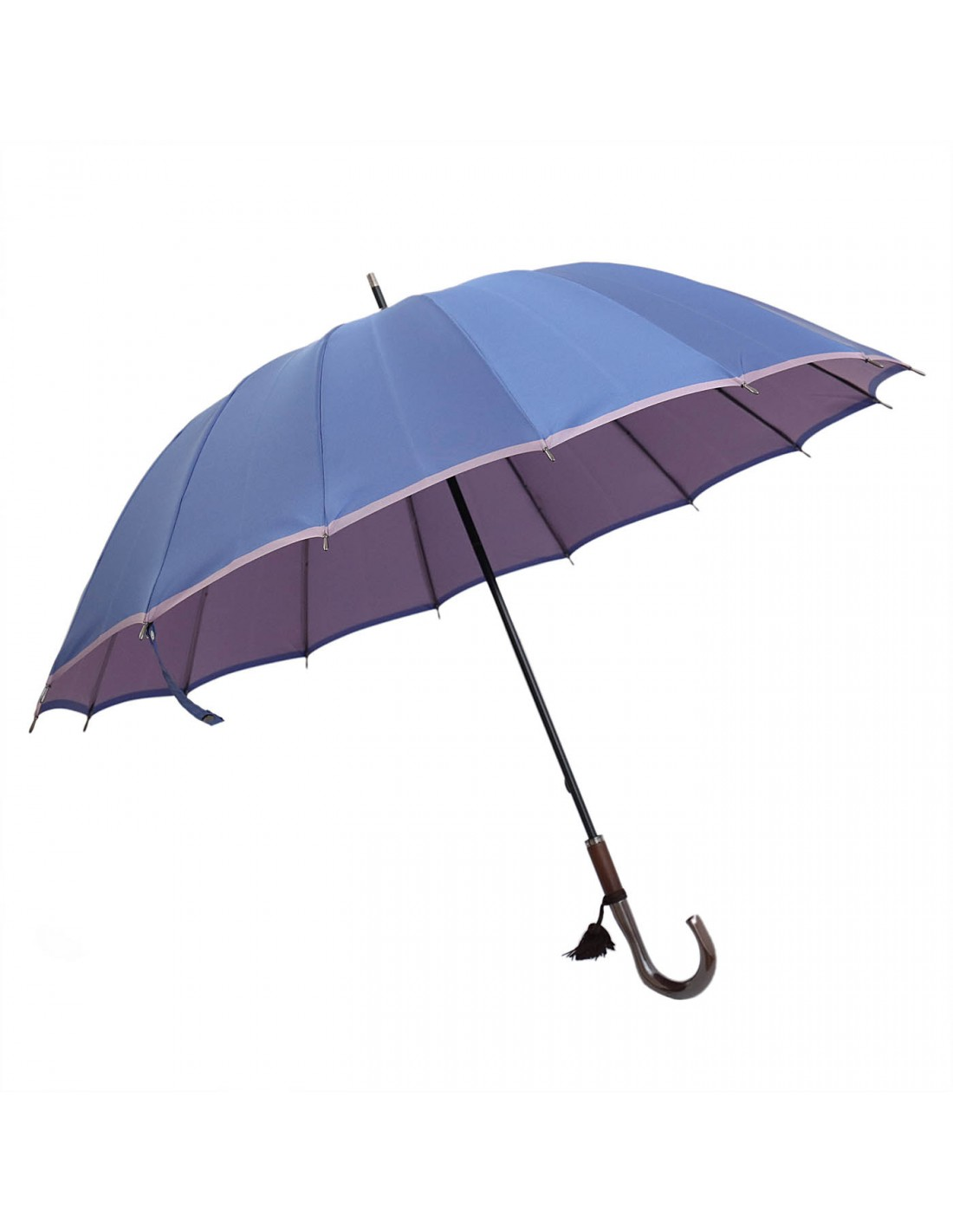 Damen Regenschirm Himmelblau/Lavendel