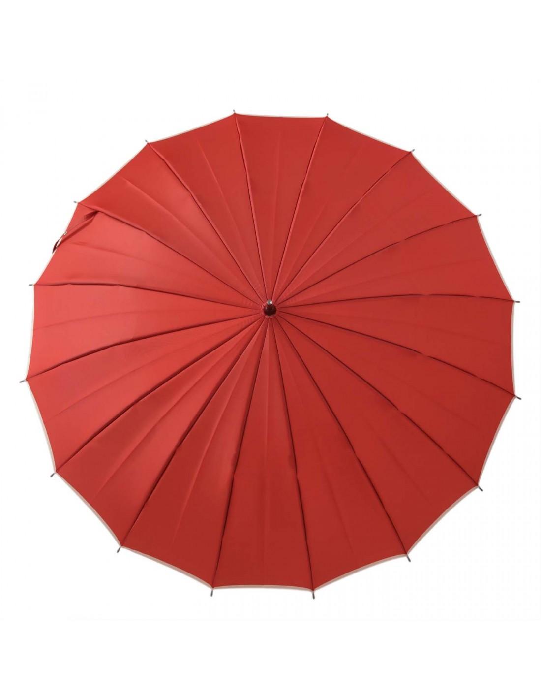 Damen Regenschirm Koralle/Elfenbein
