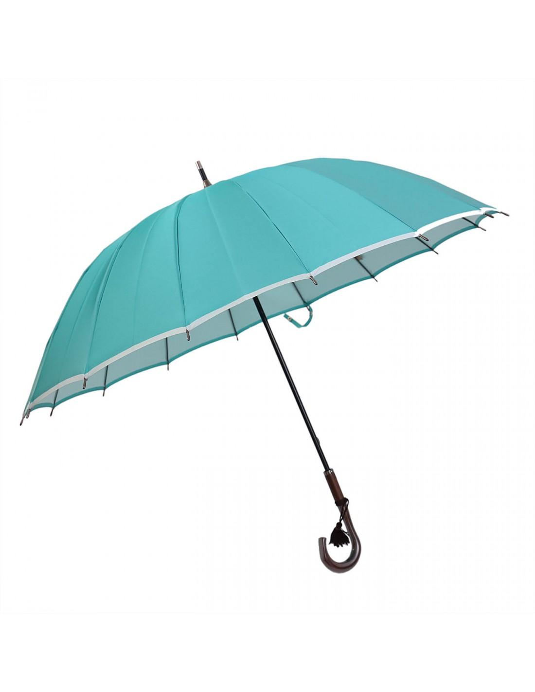 Damen Regenschirm Mint/Weiß
