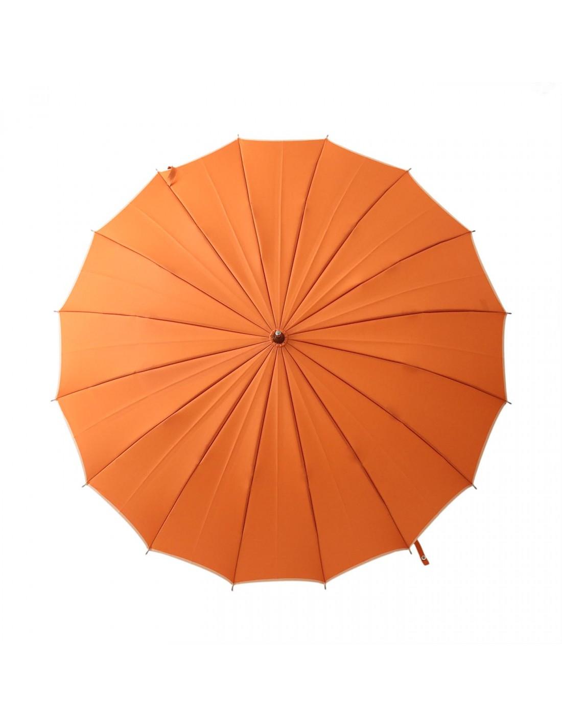 Damen Regenschirm Orange/Beige