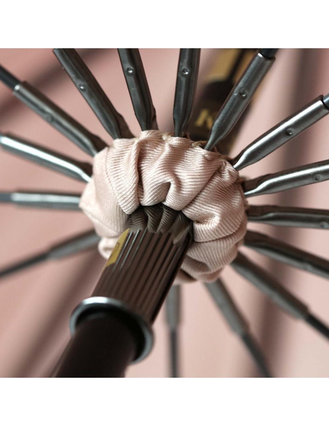 Damen Regenschirm Beige/Pink