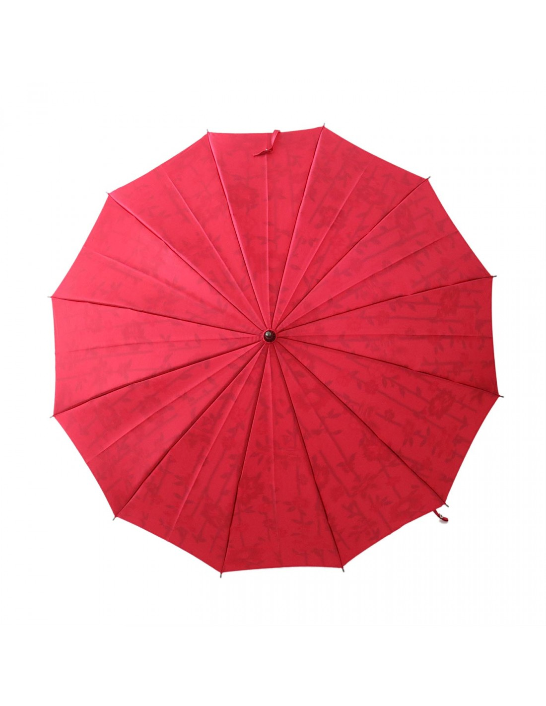Damen Regenschirm Blumenmuster Crimson