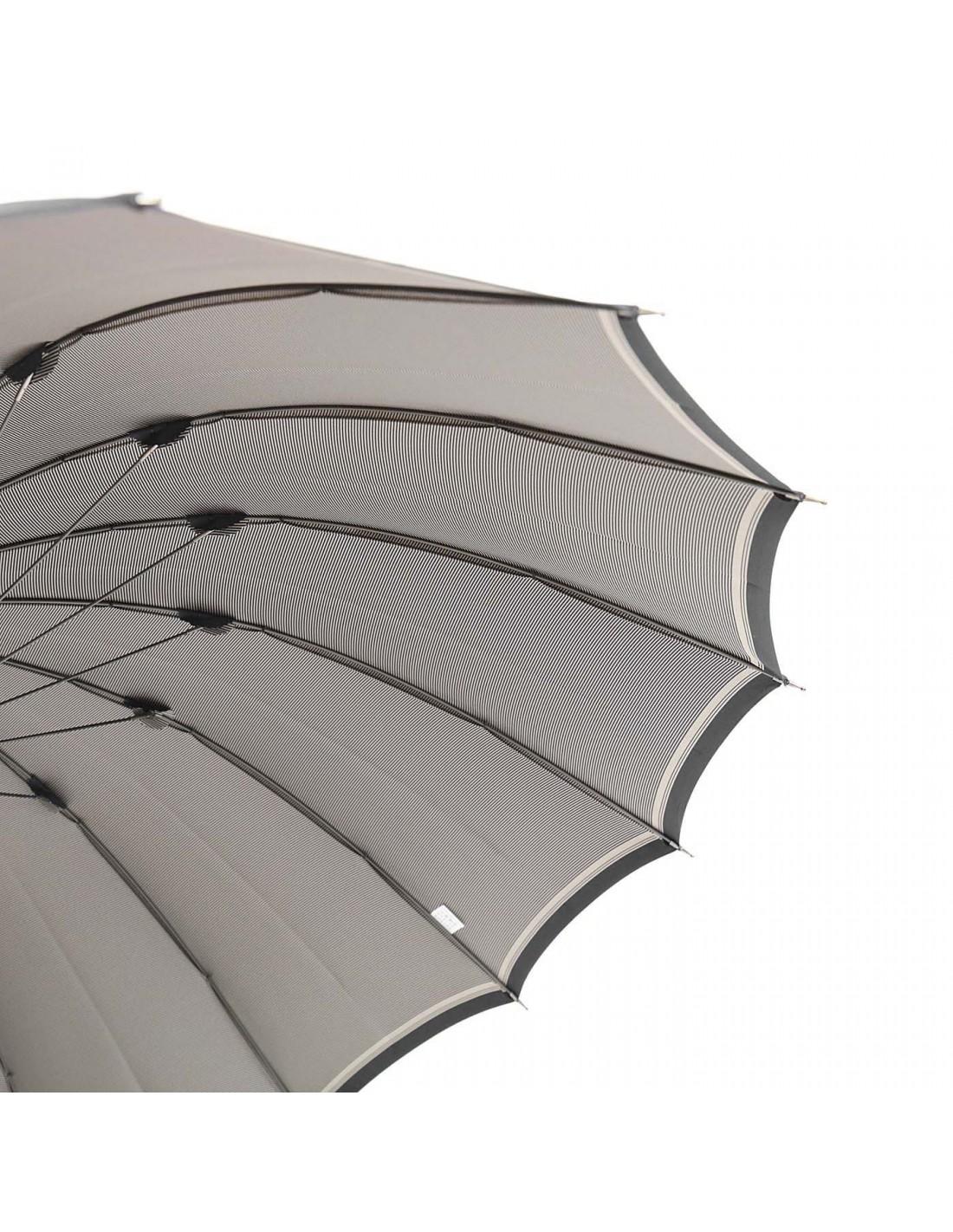 Regenschirm Back Stripe Schwarz