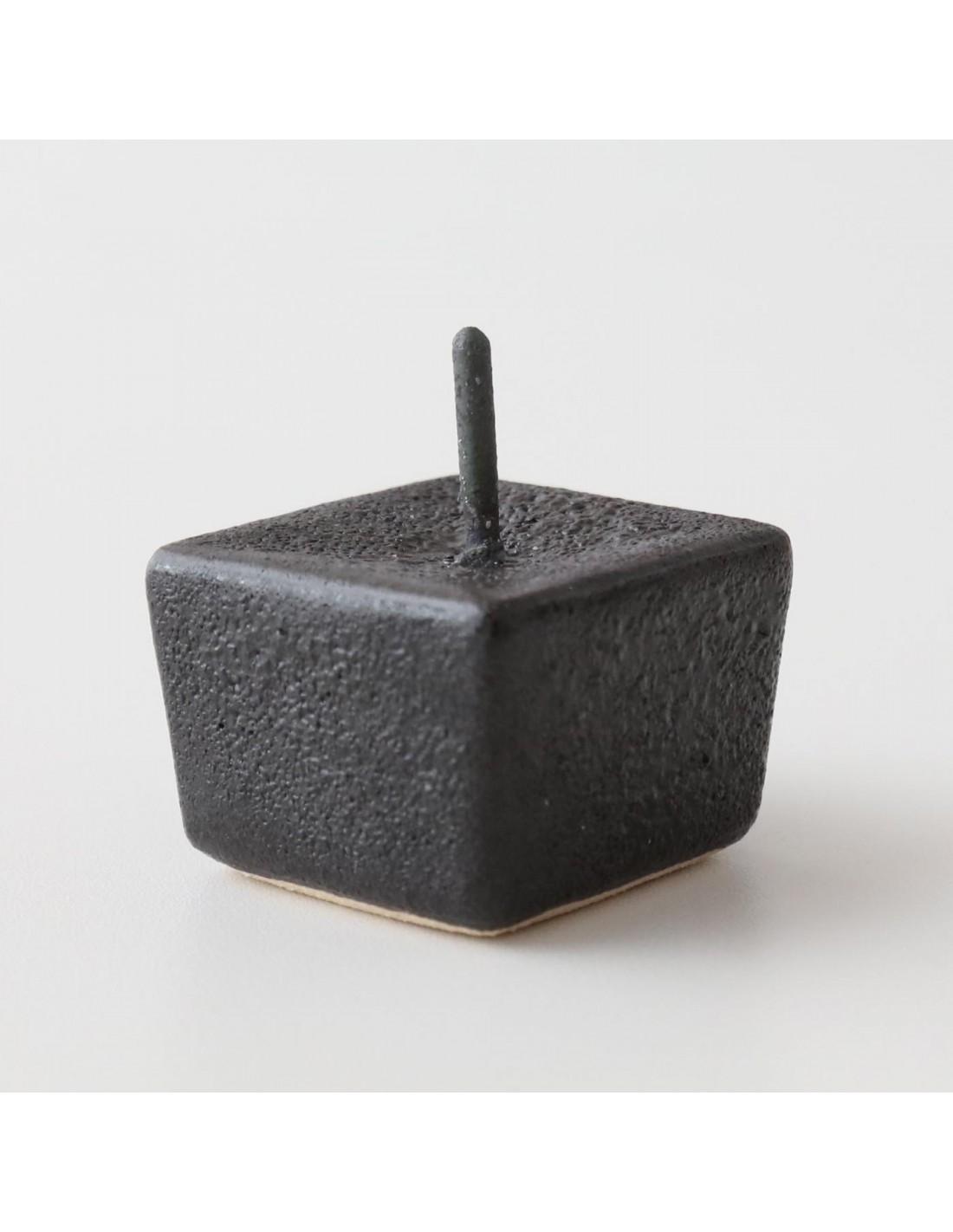 Keramik Kerzenständer Würfel Schwarz