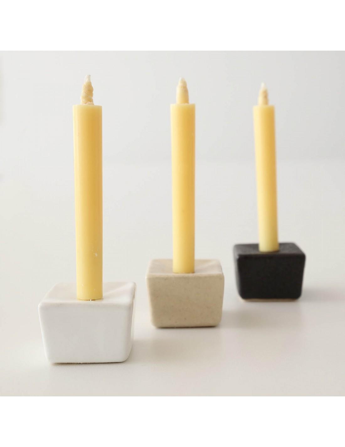 Keramik Kerzenständer Würfel Beige