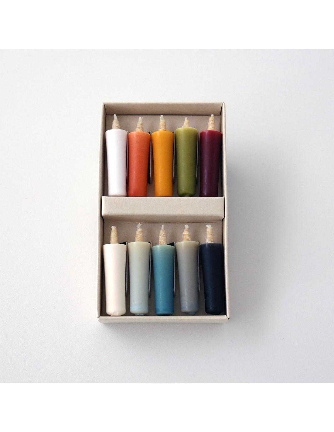 Reiswachskerzen 065 Erdfarben