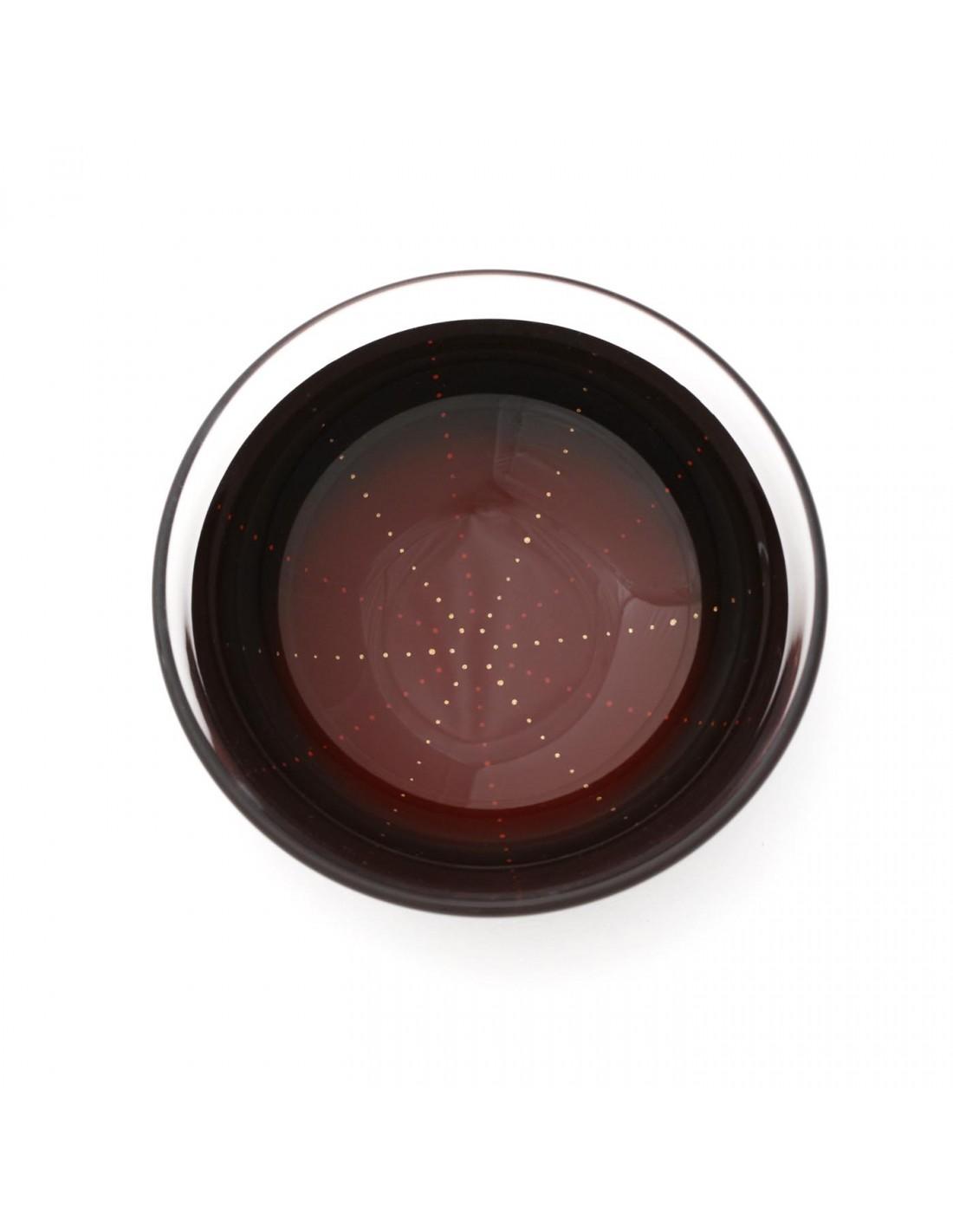 Urushi Glasschale Feuerwerk Rot/Schwarz