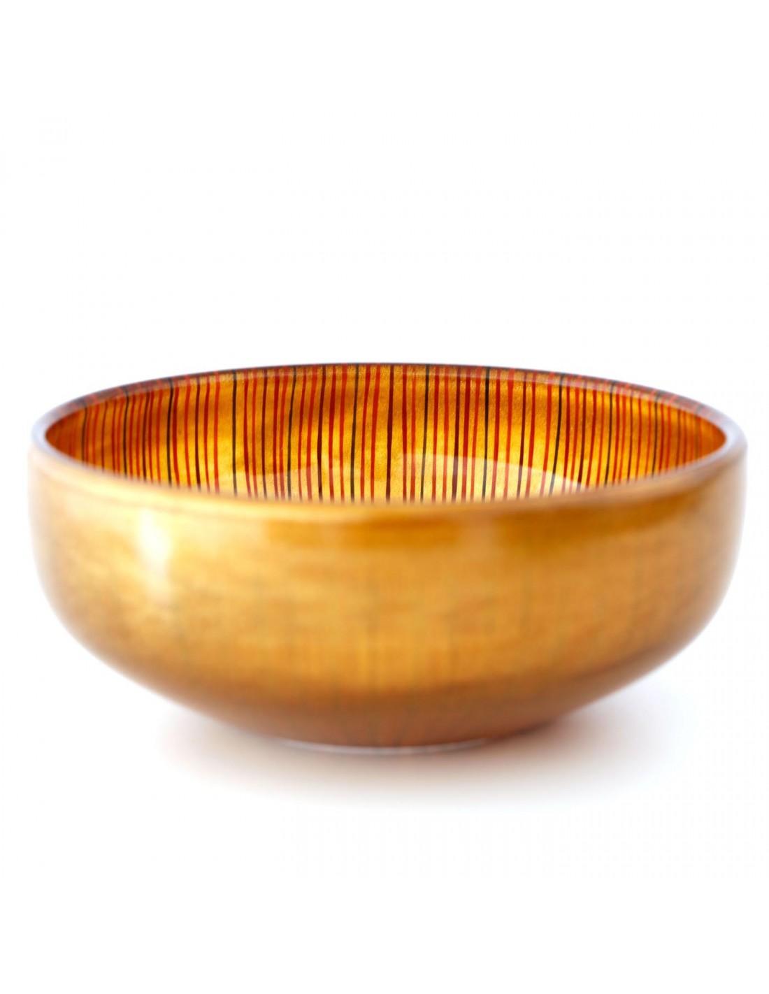 Urushi Glasschüssel L Gold