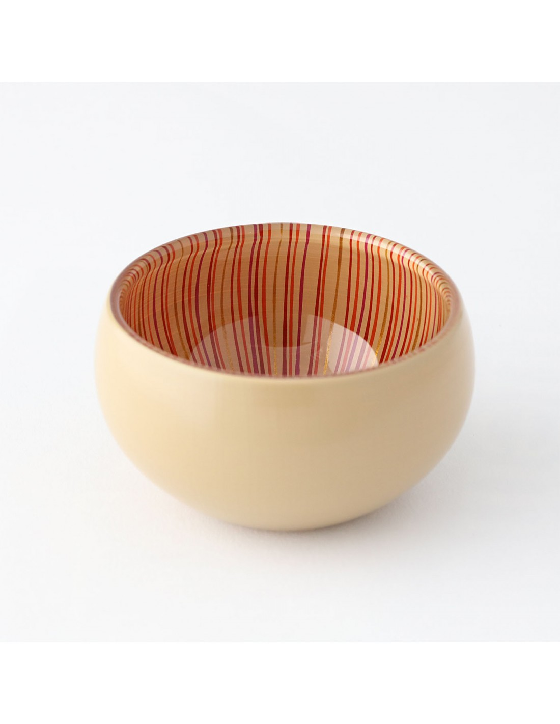 Urushi Glasschüssel S Beige/Rot
