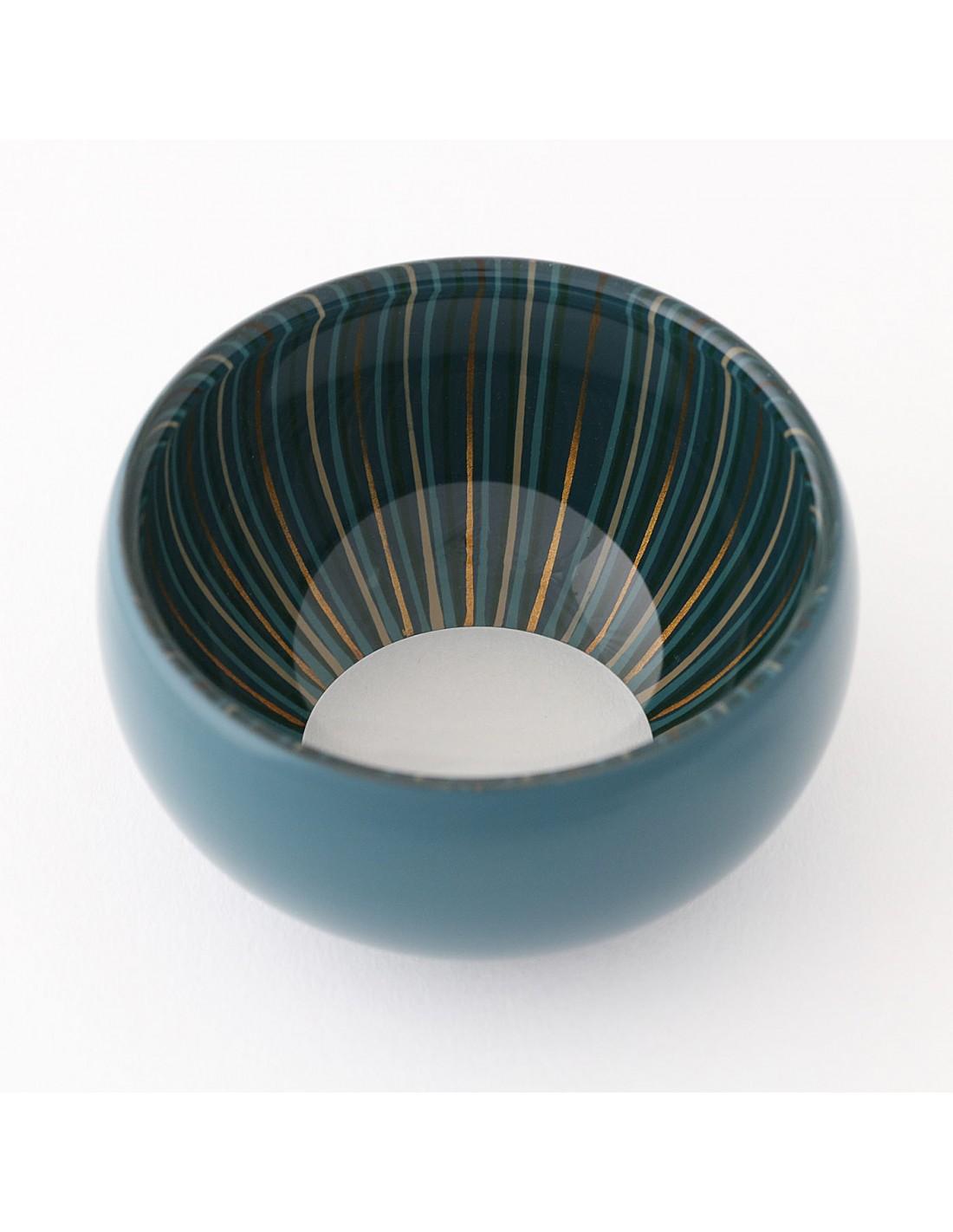 Urushi Glasschüssel S Blau