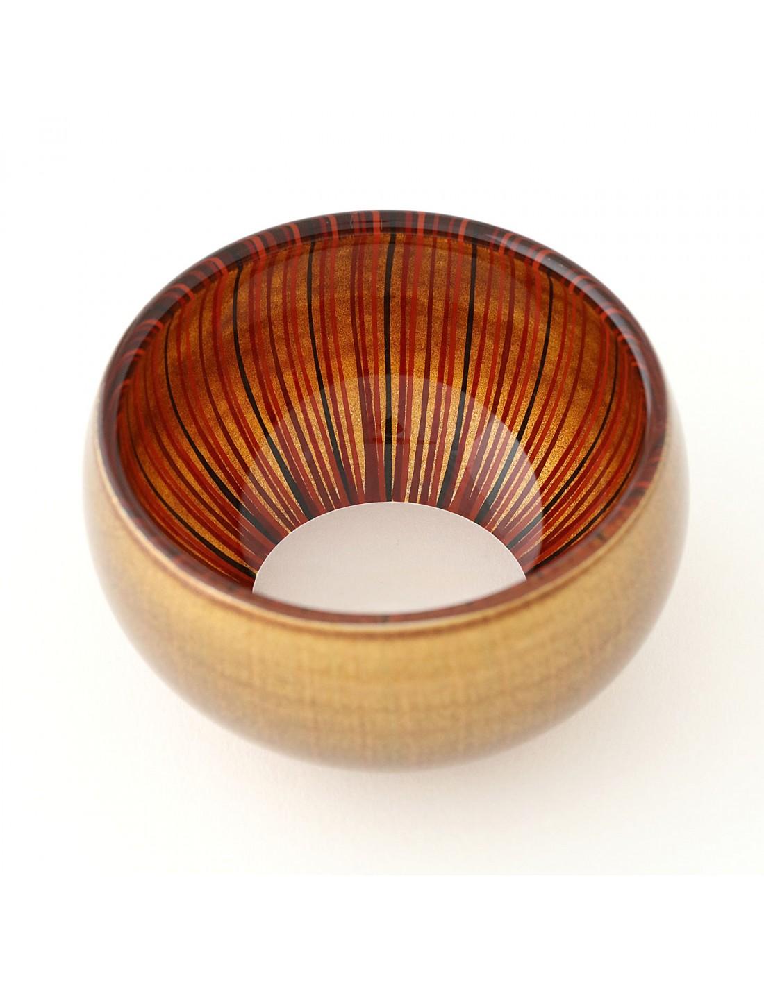 Urushi Glasschüssel S Gold