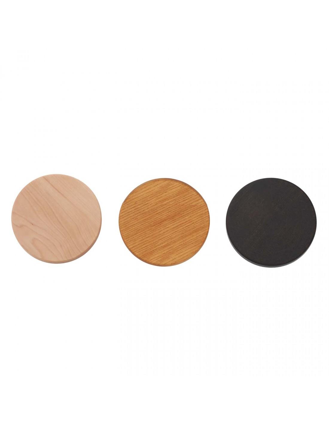 Urushi Glasschale large circles black