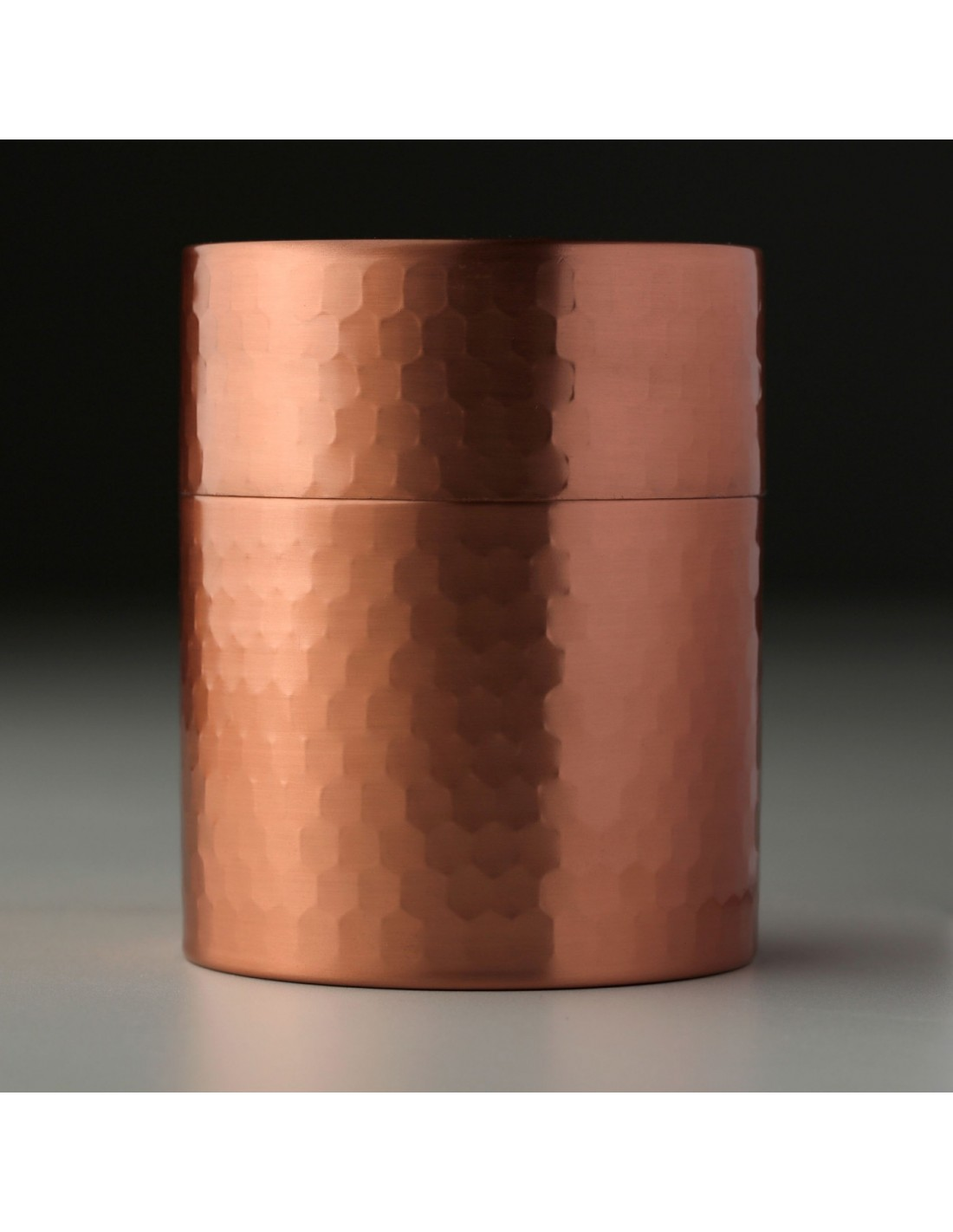 Teedose aus Kupfer gehämmert