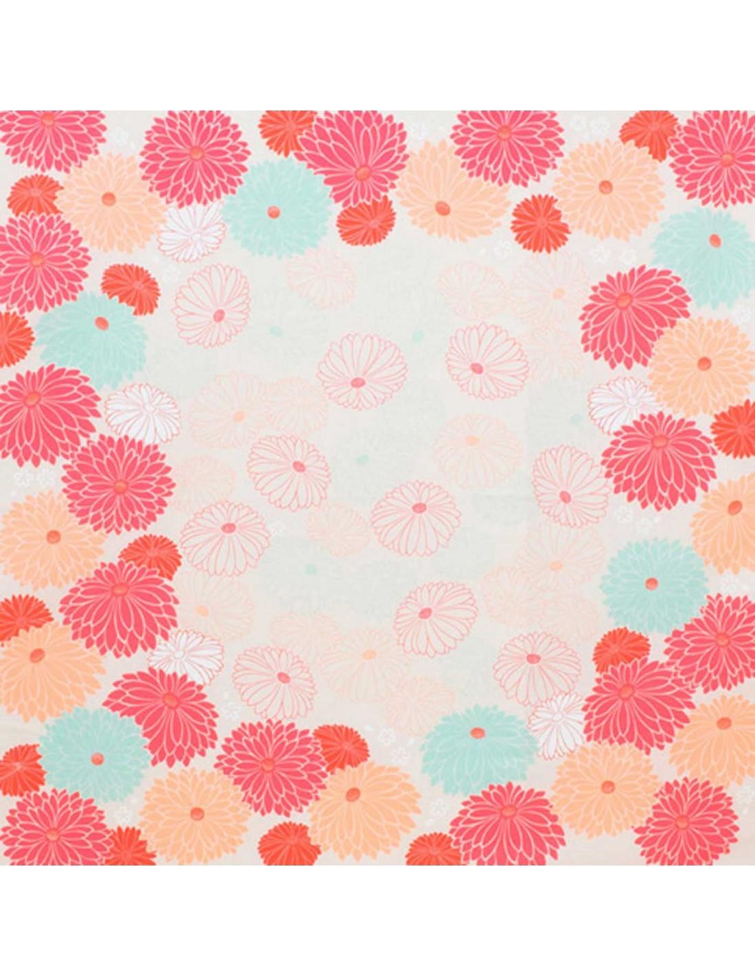 Furoshiki Chrysanteme Baumwolle